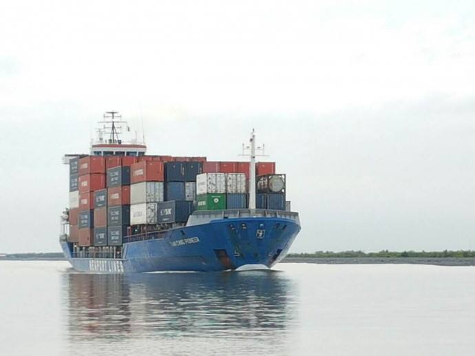 Tân Cảng Pioneer V.1631 tải trọng 7.061 cỡ lớn đầu tiên về cảng cái cui cần thơ